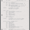 Stage manager's weekly reports, 1989 - 1990