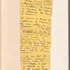 "Holograph memoranda, ""List of Things Recognised by My Lectures,"" 3 sets of notes, unsigned, undated"