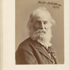 Portrait photograph of Walt Whitman, signed, dated.