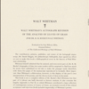 """""""Analysis of Poems,"""" i.e. Leaves of Grass, by Richard Maurice Bucke, revised, annotated and corrected by Walt Whitman"""