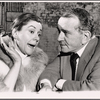 Elizabeth Wilson and Martin Gabel in rehearsal for the stage production Sheep on the Runway
