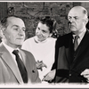 Martin Gabel, Elizabeth Wilson and John McGiver in rehearsal for the stage production Sheep on the Runway