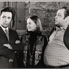 Will MacKenzie, Margaret Ladd and Richard Castellano in rehearsal for the stage production Sheep on the Runway