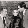 Martin Gabel, Margaret Ladd and Will MacKenzie in rehearsal for the stage production Sheep on the Runway