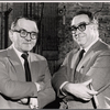 Martin Gabel and Art Buchwald in a publicity pose for the stage production Sheep on the Runway