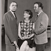 Leland Hayward, Julie Harris and William Shatner in rehearsal for the stage production A Shot in the Dark