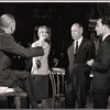 Julie Harris, Harold Clurman and unidentified others in rehearsal for the stage production A Shot in the Dark