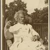 Five photographs. SLC on a verandah in a wicker chair, August 1907, Tuxedo, NY.