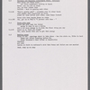 Mann, Ted - Director's notes, 1977