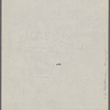 "[""Mark Twain""-Cable readings.] Draft of 5 programs, November 1884, in SLC's hand."