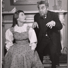 Olga Bielinska and Luther Adler in 1956 stage production A Month in the Country