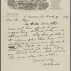 Howells, [William Dean], ALS to Ayer [Dana S.?]. Mar. 9, 1918
