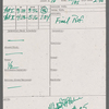 Stage manager's log, 1985