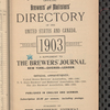 Tovey's official brewers' and maltsters' directory of the United States and Canada 1903