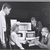 Director George Axelrod, Arlene Francis, Joseph Cotten and Harry Kurnitz in rehearsal for the stage production of Once More, With Feeling