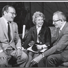 Producer Martin Gabel, Arlene Francis and playwright Harry Kurnitz in rehearsal for the stage production of Once More, With Feeling