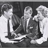 Director George Axelrod, Joseph Cotten and Arlene Francis in rehearsal for the stage production of Once More, With Feeling