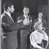 Rex Williams, Joseph Cotten, Arlene Francis and unidentified man in rehearsal for the stage production of Once More, With Feeling