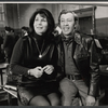 Betty Comden and Adolph Green during rehearsals for the stage production Applause.