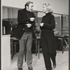 Director/choreographer Ron Field and Lauren Bacall in rehearsal for the stage production Applause