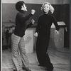Sammy Williams and Lauren Bacall in rehearsal for the stage production Applause
