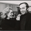 Lauren Bacall and director/choreographer Ron Field in rehearsal for the stage production Applause