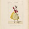 Costume de Melle. Fanny Essler [sic], rôle de Lauretta, dans La tarentule. Ballet. Académie Royale de Musique. Act 1.er, 1.er costume.