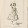 Costume de Melle. Fanny Essler [sic], rôle de Lauretta dans La tarentule. Ballet. Académie Royale de Musique. Acte 1er, 1er costume.