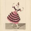Costume de Melle Fanny Essler [sic] rôle de Florinde dans Le diable boiteux. Ballet pantomime, Acte III, Pas du fandango, Academie Royale de Musique.