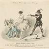 """Fanny Elssler u. Herr Carey in dem Ballete """"Faust"""" in der Scene """"Die sieben Todsünden.""""."""
