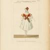 Costume de Melle. Fanny Essler [sic] rôle de Mathilde, dans L'ile des pirates. Ballet. Académie Royale de Musique