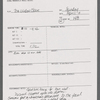 Stage Manager's Daily Report Forms