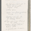 Spiral notebook with Stage Manager's Handwritten Notes