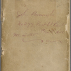 "Notebook 6: (""G""). ""John Burroughs No 377 First St East Capitol Hill Dec.14 1865."" Walt Whitman"