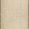 "Notebook 12: (""I""). ""John Burroughs  377 First St East  Washington DC  Mar. 1st 1866."""