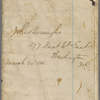 "Notebook 10: (""K""). ""John Burroughs  377 First St East Washington DC  Mar. 24 1865."""