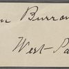 "Burroughs, John, ""Walt Whitman & his Art,"" holograph MS, with signature."