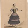 Costume espagnol. Porté par Melle, Fanny Essler [sic] dans Le diable boiteux. A. Devéria del. Lith. de Lemercier à Paris.