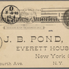Pond, [Major James Burton], postcard to. Jun. 8, 1895 .