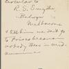 Pond, [Major James Burton], ALS to. Jun. 17, 1895.