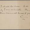 Pond, Maj. J[ames] B[urton], postcard to. [Jun. 21, 1897].