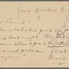Pond, [Major James Burton], postcard to. Jul. 5, [1902].