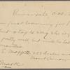 Pond, [Major James Burton], postcard to. Oct. 24, [1902].
