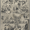 The Tichborne case--sketches of heads in court.