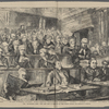 """The Tichborne case--""""pro and con""""--a sketch of the court during Dr. Kenealy's speech."""