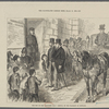 Theend of the Tichborne case: arrival of The Claimant at Newgate.