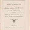 Program for Army Athletic Fund Show at the N.Y. Hippodrome