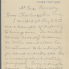 [Warner], Charles [Dudley] and Susan, ALS to. [Apr. 12, 1894]. Previously [Mar. 30, 1893].