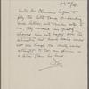 Bergsten, Nils, ALS to SLC. Jul. 28, 1906.