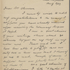 Symons, Alfred F., ALS to SLC. Aug. 3, 1907.